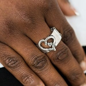 Cute As Cupid - Silver Stretchy Ring